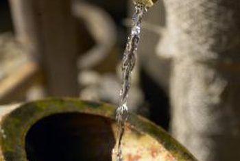 Waarde van buite water fonteine